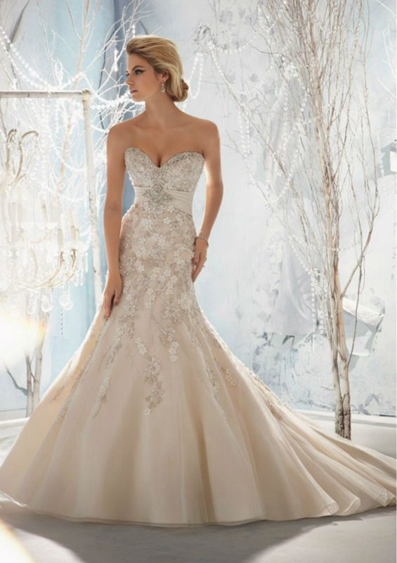 6 ideas para brillar con tu vestido expo tu boda for Bling corset mermaid wedding dresses
